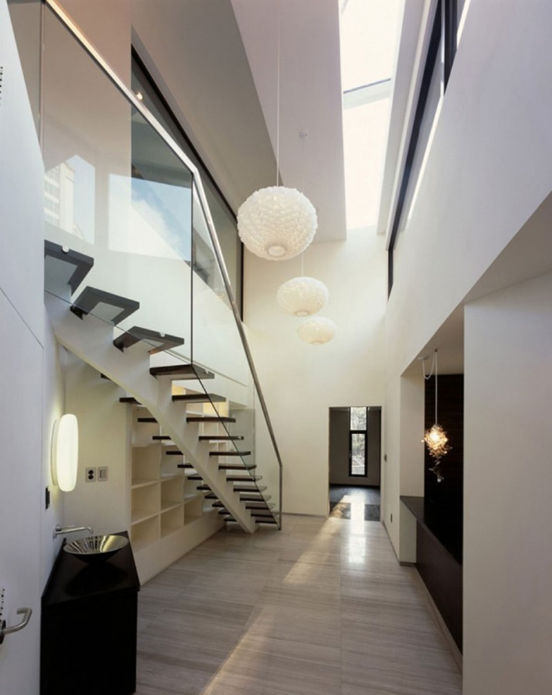 Z House, Stunning Architecture Of A Modern House By Korean Architect   Ceiling Lamps