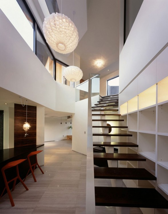 Z House, Stunning Architecture of a Modern House by Korean Architect - Staircase
