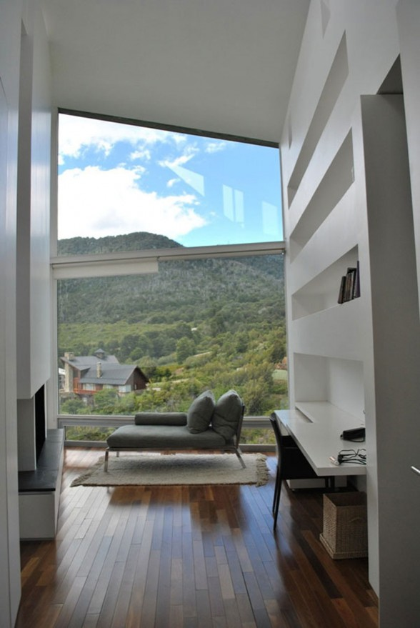 Amazing Mountain Villa with Pantagonian Valley Landscape View from Alric Galindez Architect - Reading Sofa