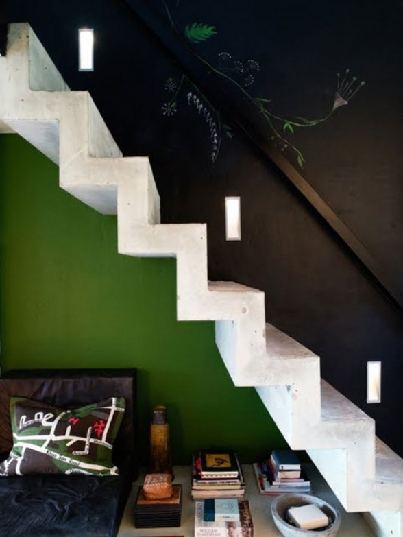 Bold Style of Interior Design of a Designer Home Studio - Staircase