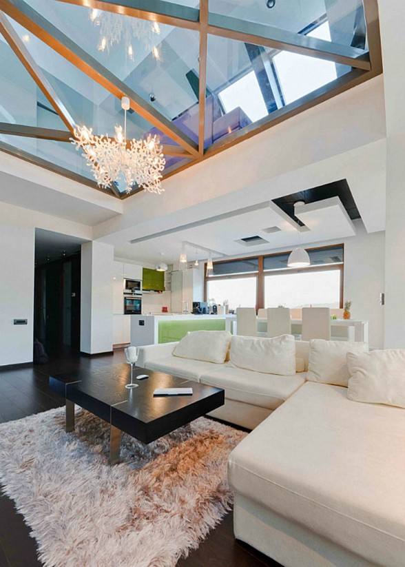 Modern Glass House in Romania by In Situ Architect - Living Room
