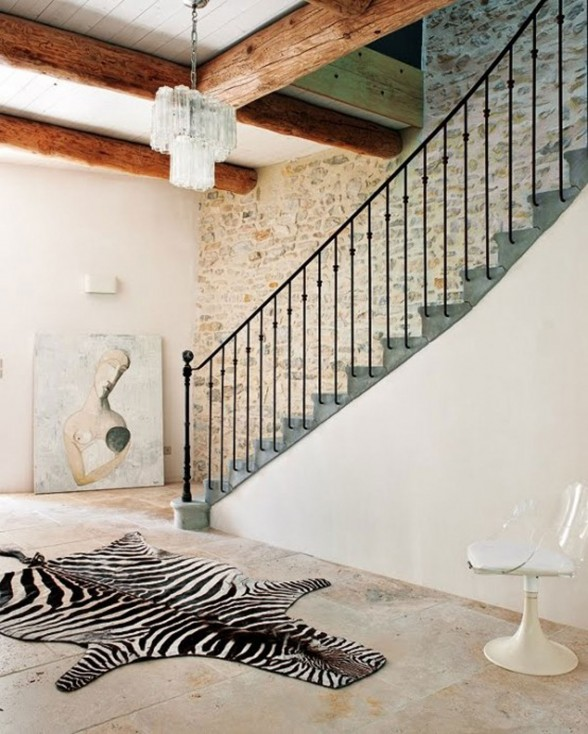 Modern Home Design in France, Redesigning from an Old Oil Mill Factory - Steel Staircase