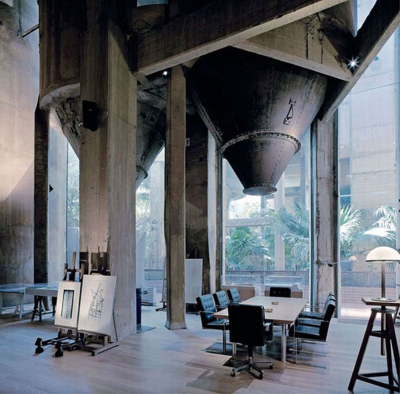 Stunning Architecture From Redesigned Romanesque Old Concrete Factory Into A House Meeting Area
