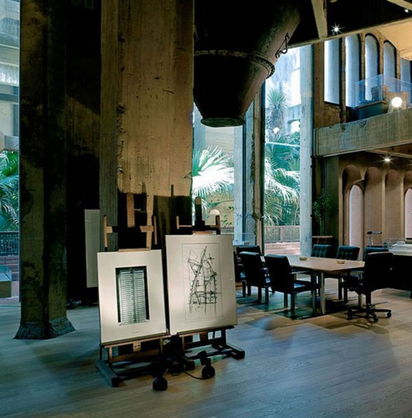 Stunning-Architecture-from-Redesigned-Romanesque-Old-Concrete-Factory-into-a-House-Working-Area