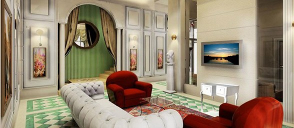 The Kingold, Apartment with Chinese Traditional Design of Royal Styles - Television