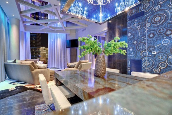 Amazing Apartment Ideas in Las Vegas Designed by Mark Tracy - Dining Table