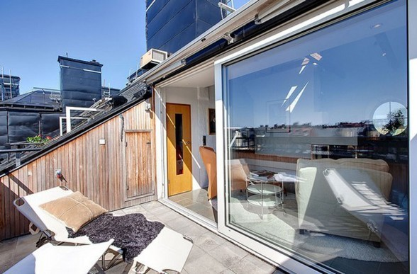 Charming and Amazing Beautiful Penthouse Design with Best Finishing and Furniture - Rooftop Terrace