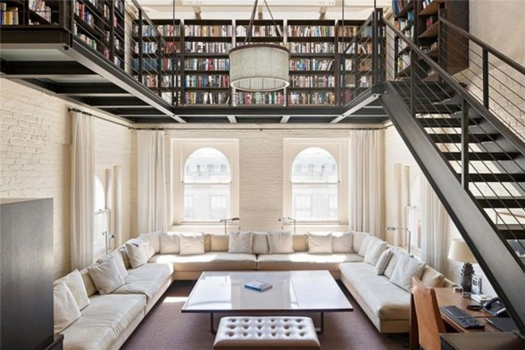 Incredible Modern Penthouse with Rooftop Swimming Pool in NY - Ceiling Library