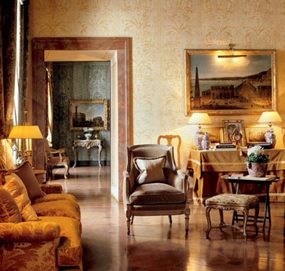 Monarch Apartment, Luxurious Interior Design Reminder of Emperor Napoleon III in Turin - Living Room