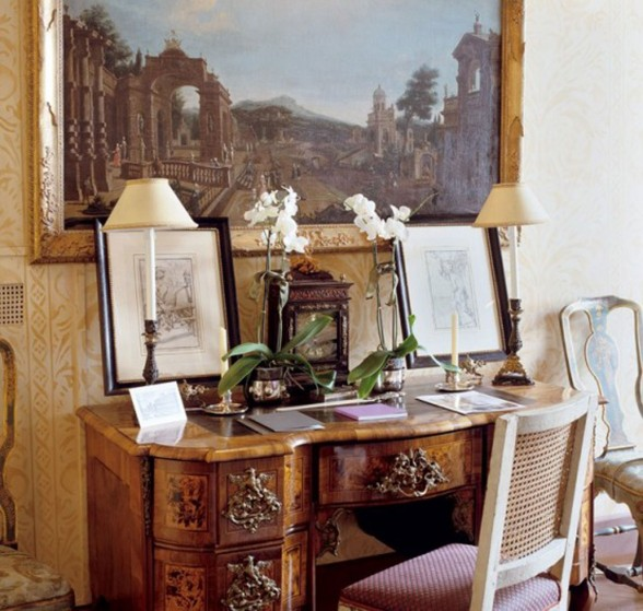 Monarch Apartment, Luxurious Interior Design Reminder of Emperor Napoleon III in Turin - Working Desk