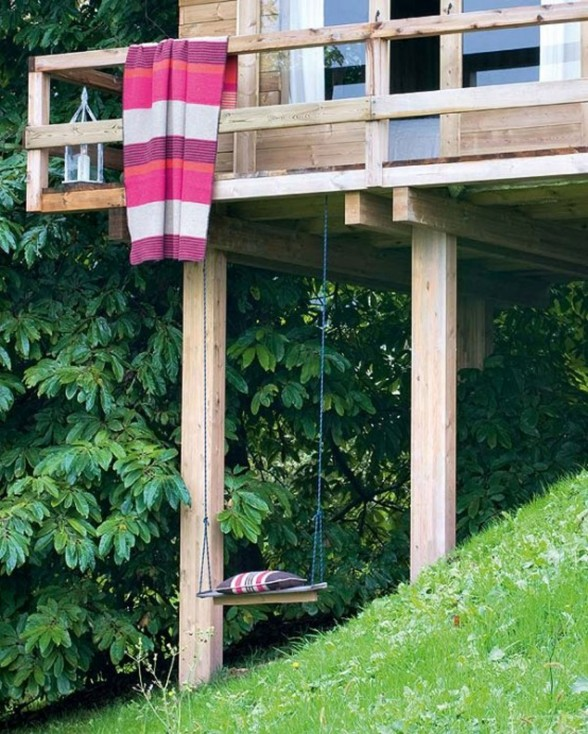 Rustic Tree House, Mini Home with Wooden Materials for summer - Cradle
