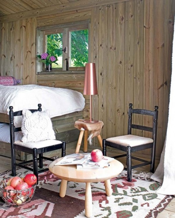 Rustic Tree House, Mini Home with Wooden Materials for summer - Interior