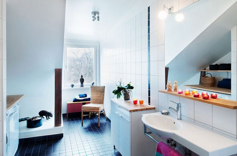 Vintage Decoration In Amazing Apartment Design From Skeppsholmen   Bathroom