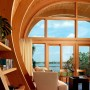 Wooden Framed House, Unusual Design named Hammock-Shaped Guest House: Wooden Framed House, Unusual Design Named Hammock Shaped Guest House   Livingroom