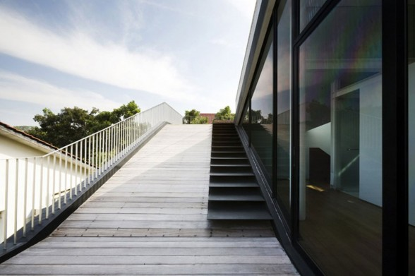 integrated outdoor staircase structure
