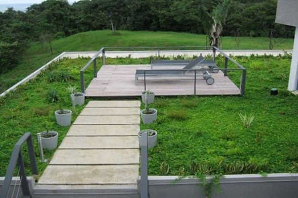 conceptual rooftop terrace space