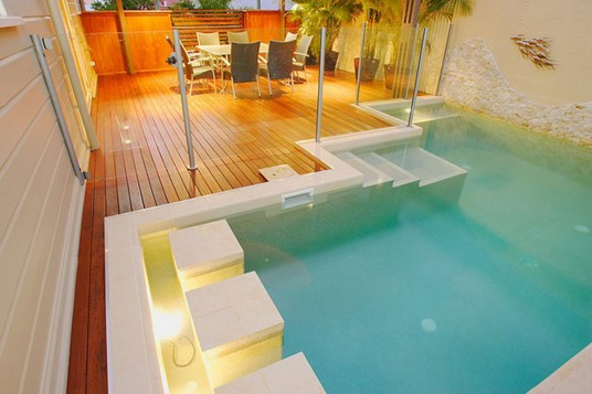 enjoyable blue indoor pool