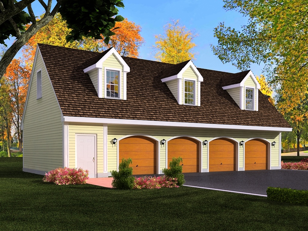 Car L Shaped Garage With Apartment