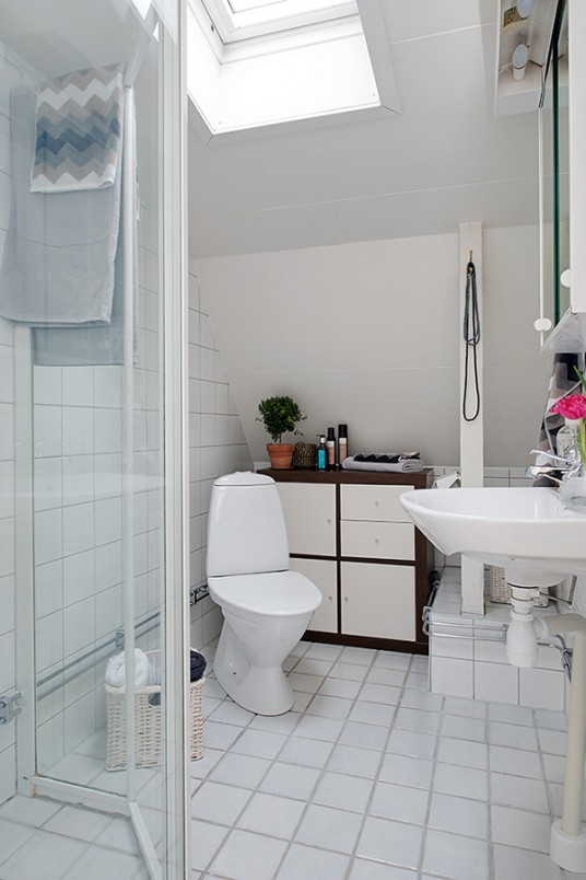 Bathroom of Attic Sweden Apartment