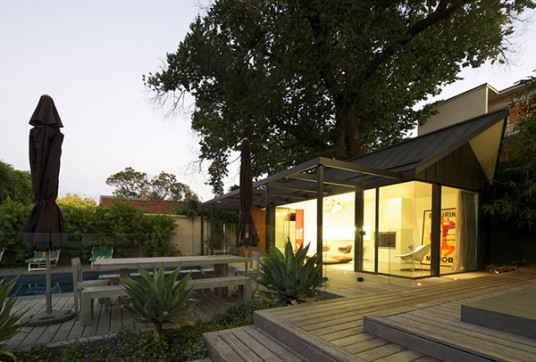 Glass and Wood House in Melbourne