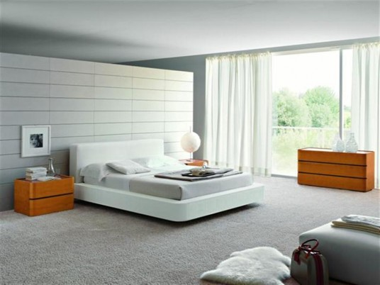 New modern bedroom furniture design italian