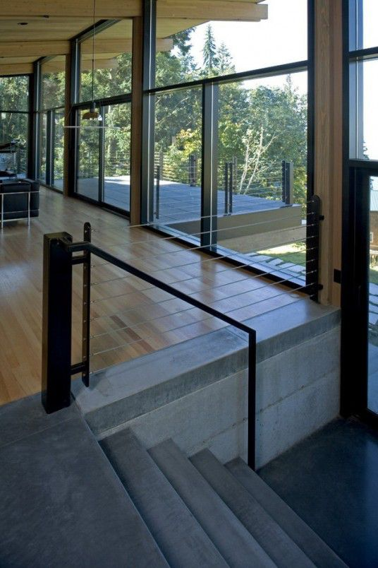 Open Floor Glass and Wooden Cabin