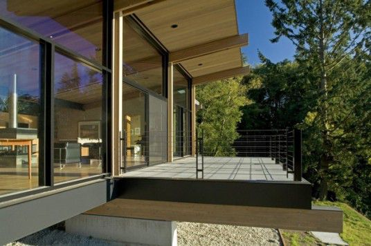 Terrace Glass and Wooden Cabin