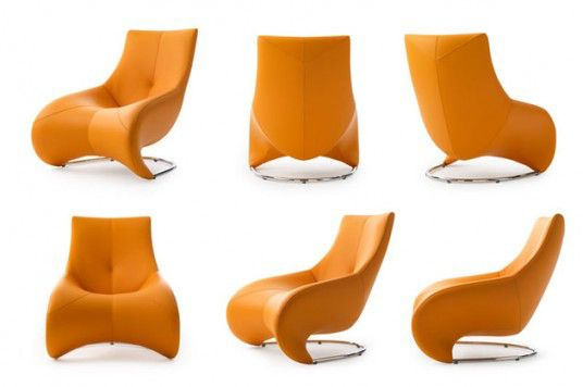 Yellow Luxury Loungers From Leolux Darius