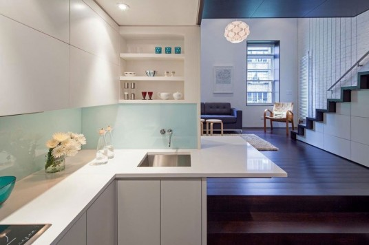 Manhattan Micro-Loft Kitchen