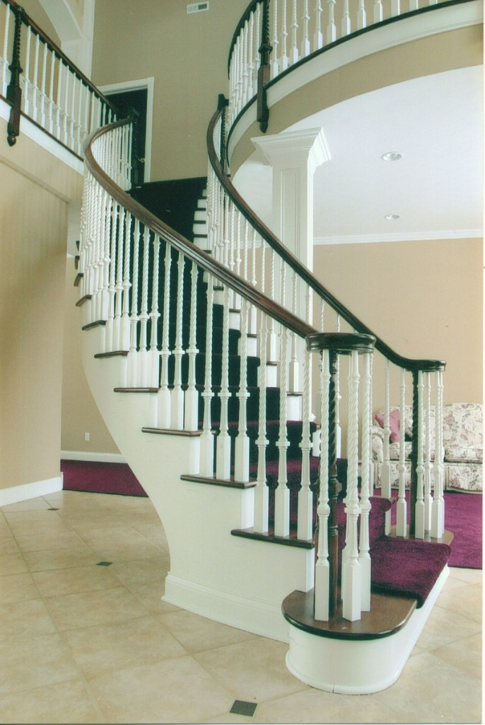 Modern Curved Staircase Design Contemporary Landing Art
