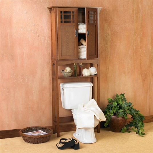 Small Wooden Bathroom Mission Design White Toilet Indoor Vegetable