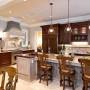 Amazing Classic Kitchen Lighting Design Wooden Chairs Hanging Kitchen Lights