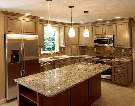 Astonishing Modern Kitchen Lighting Design Granite Countertops