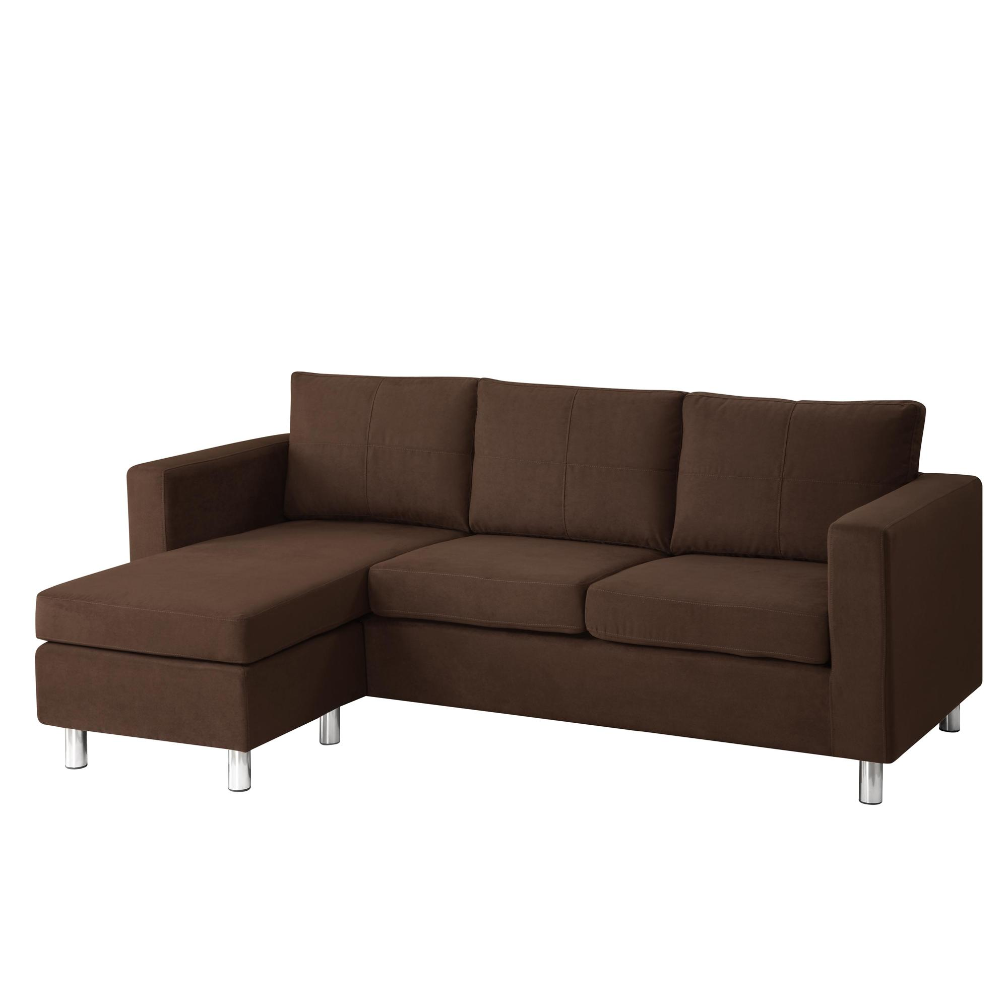 Astonishing modern minimalist brown color small sectional Small modern sofa