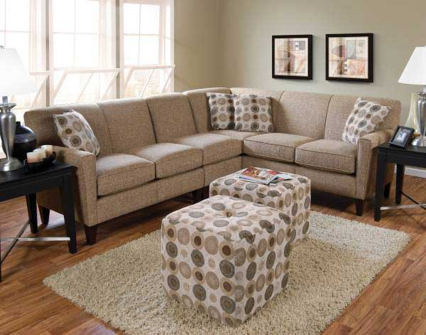 Classic England Small Sectional Sofa Circle Decor Cushion