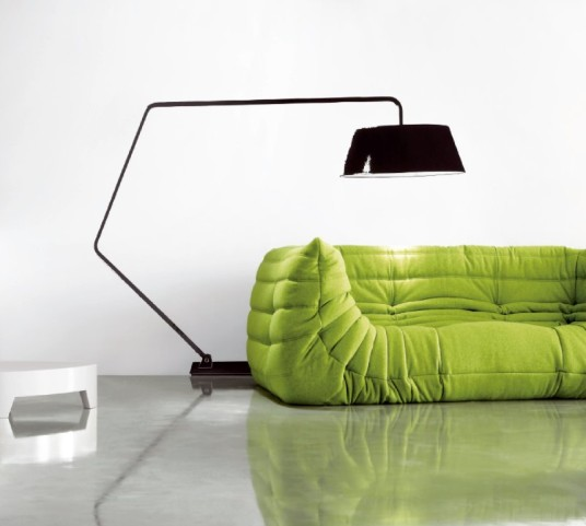 Elegant Green Color Togo Sofa Small Sectional Living Room Design