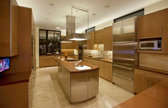 Elegant Kitchen Lighting Design Sweet Color Modern Style
