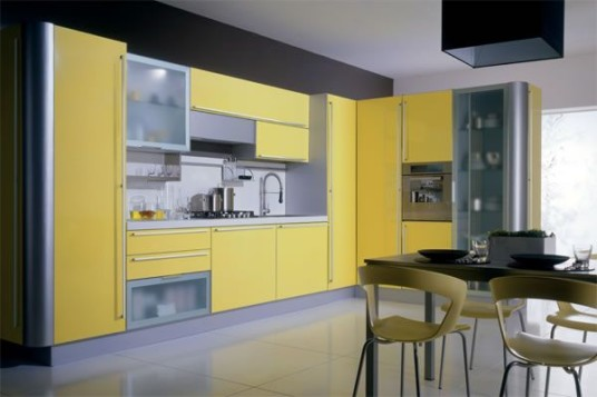 Elegant Modern Minimalist Green Kitchen Cabinets Pictures Design
