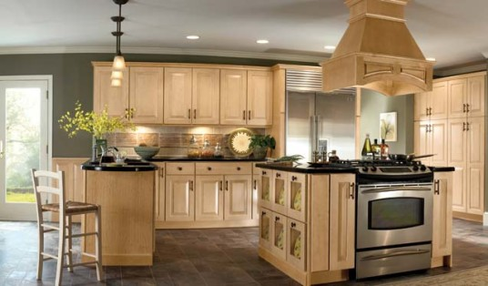 Gorgeos Modern Classic Kitchen Lighting Design Wooden Islands