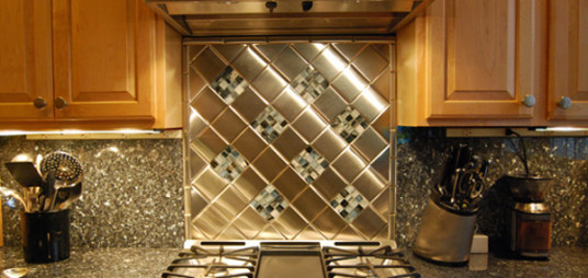 Luxury Modern Style Metal Kitchen Backsplash Designs Ideas