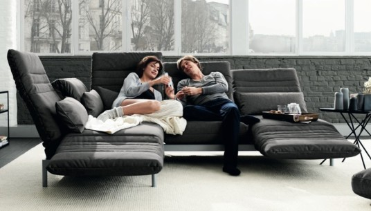 Marvelous Modern Style Rolf Benz Sofa Gray Color Sleeper Design