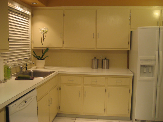 Neutral Kitchen Cupboards Paint Ceiling Lamp White Countertop