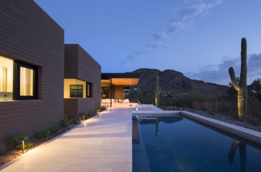 Rammed Earth Modern House Pool
