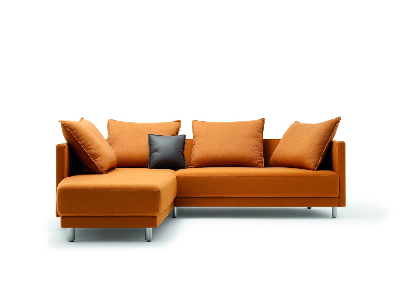 Stunning Modern Style Rolf Benz Sofa Orange Color Design Ideas