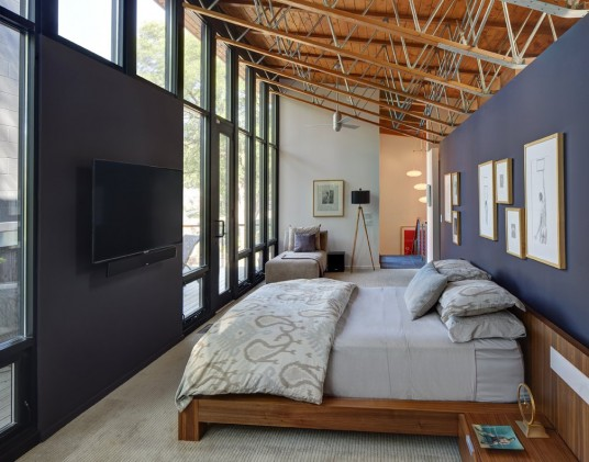 Midvale Courtyard House Design Bedroom