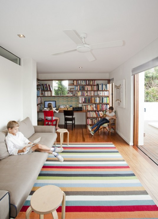 Sunshine Beach House Design Library Room
