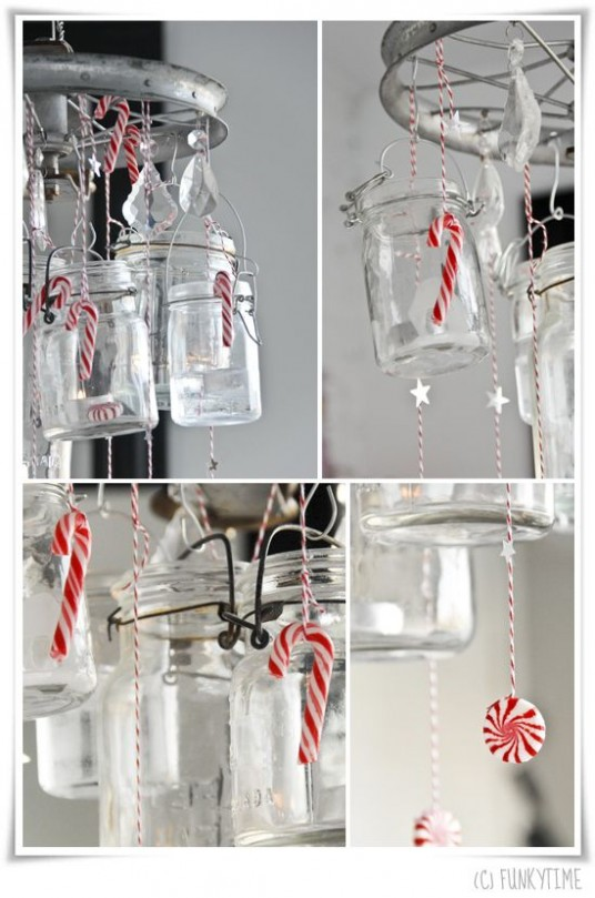 Christmas DIY Candy Cane Glass