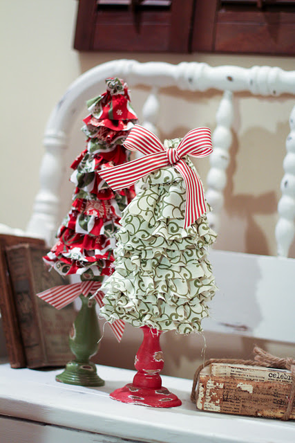 Ruffled Christmas Trees Ideas