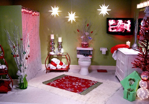 christmas decoration for bathroom