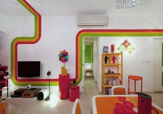 rainbow design interior